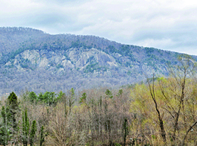 Rumbling Bald at Chimney Rock State Park Trail